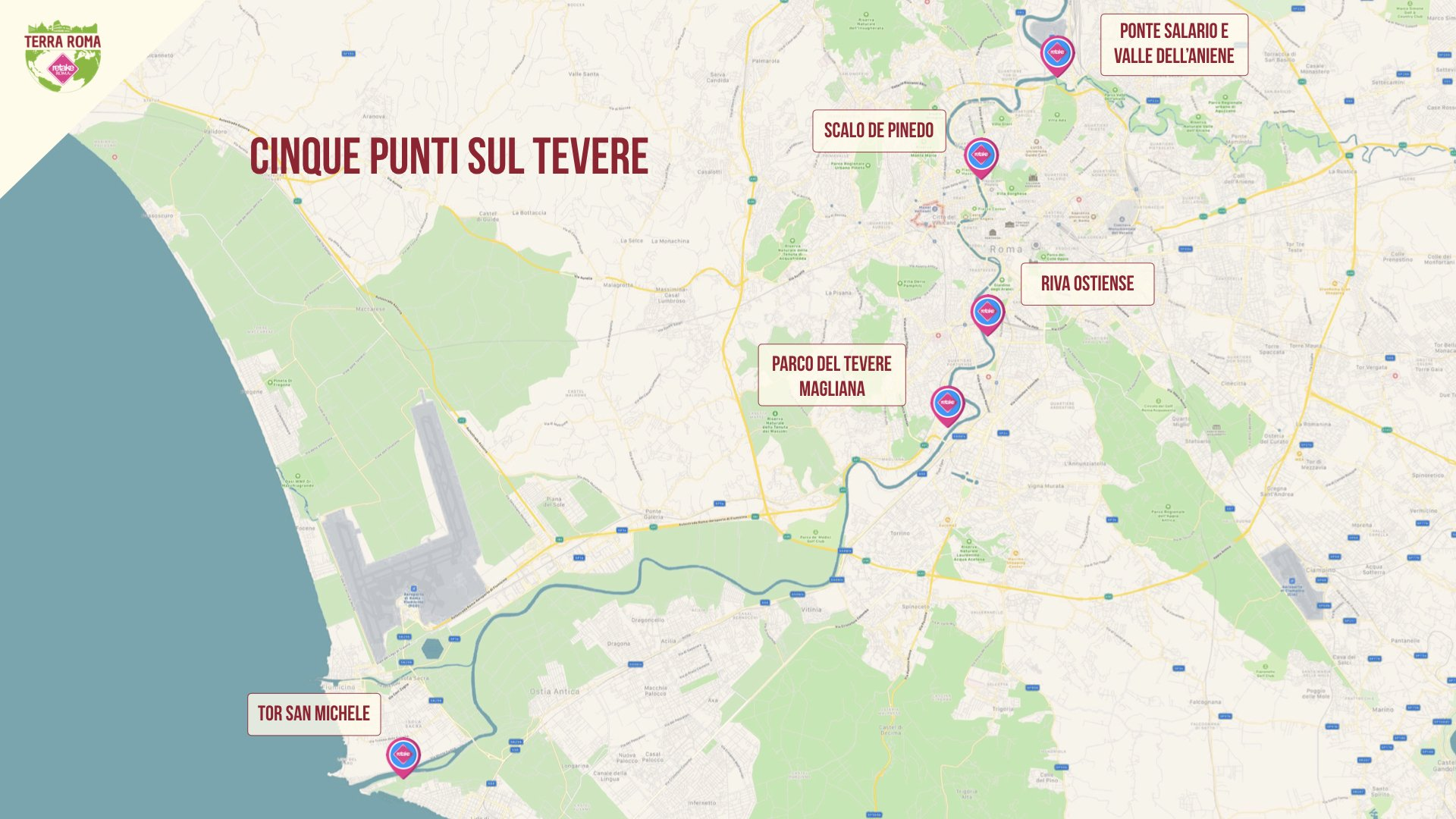 Mappa Terra Roma
